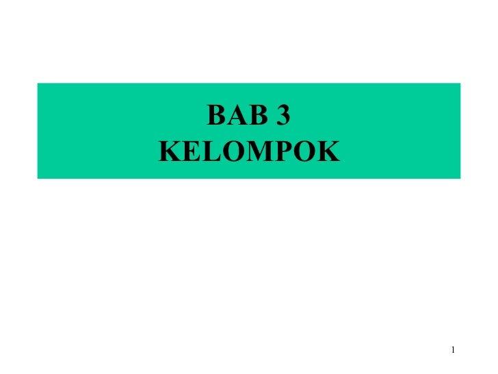 BAB 3 KELOMPOK