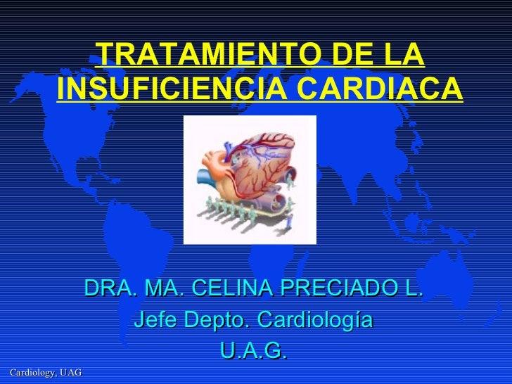 TRATAMIENTO DE LA INSUFICIENCIA CARDIACA DRA. MA. CELINA PRECIADO L. Jefe Depto. Cardiología U.A.G.
