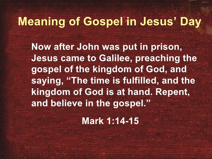 what is the definition of gospel