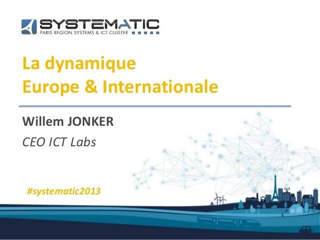 La dynamiqueEurope & InternationaleWillem JONKERCEO ICT Labs#systematic2013