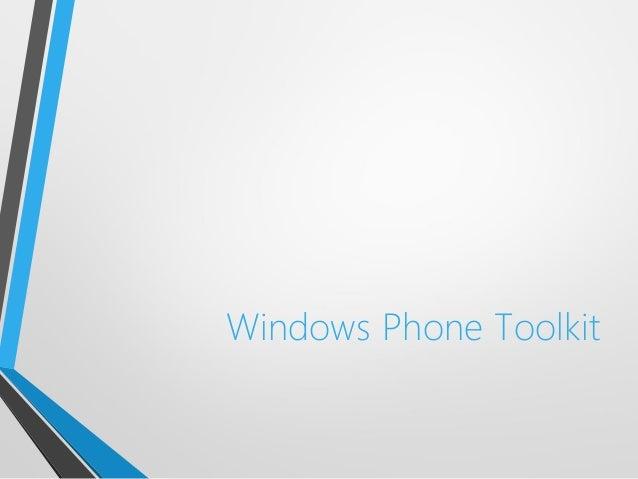 Windows Phone Toolkit