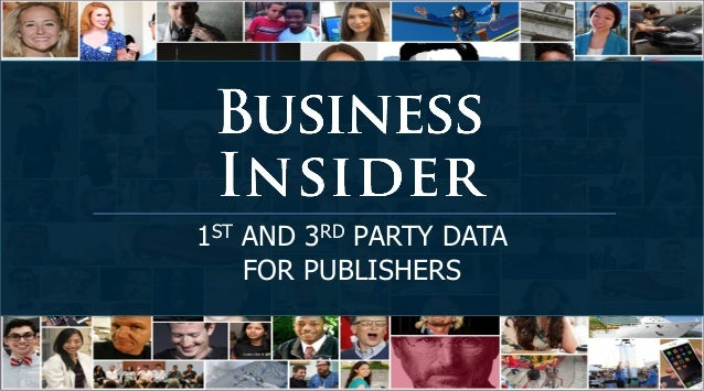 1ST AND 3RD PARTY DATA FOR PUBLISHERS