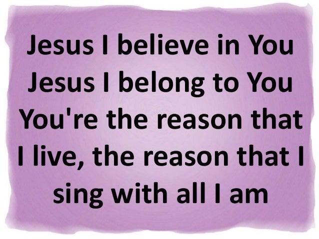 Jesus i belong to you lyrics