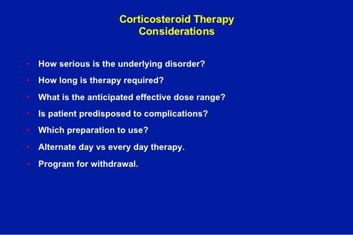 exogenous corticosteroid hormones