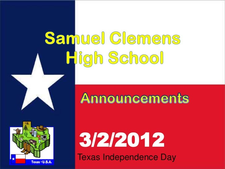 3/2/2012Texas Independence Day