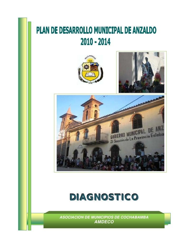 DIAGNOSTICOASOCIACION DE MUNICIPIOS DE COCHABAMBA              AMDECO