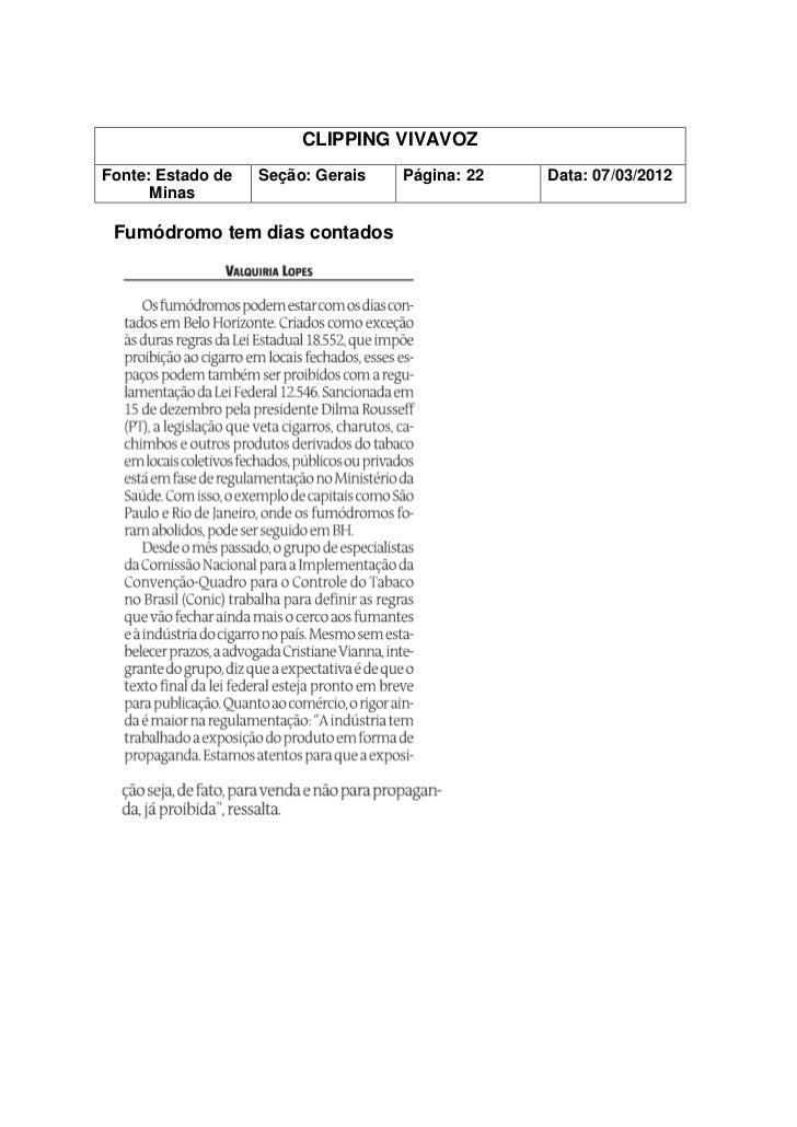 CLIPPING VIVAVOZFonte: Guardian        Seção:                 Página:               Data: 02/03/2012 How marijuana impairs...