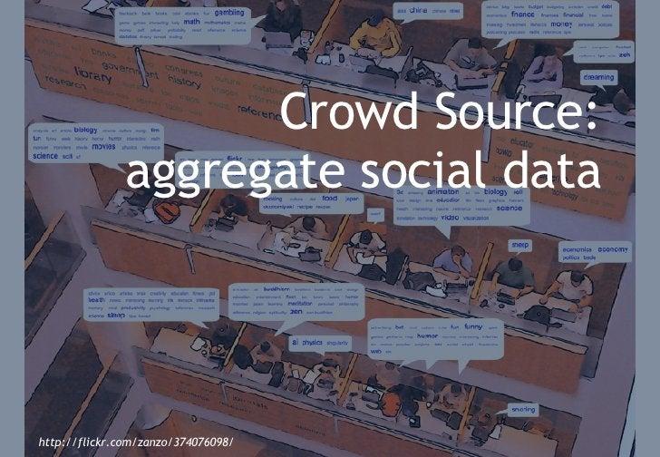 Crowd-sourcing: the social web comes to library software <ul><li>The social bits: </li></ul><ul><li>Tags </li></ul><ul><li...