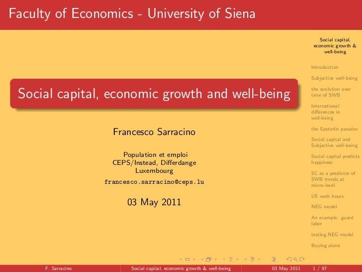 Faculty of Economics - University of Siena                                                                                ...