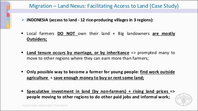 FAO Approach to Migration and entry points for Migration-Land interve…