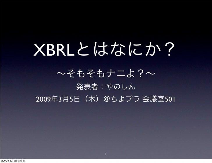 XBRL                 2009 3   5       501                                 1 2009   3   6