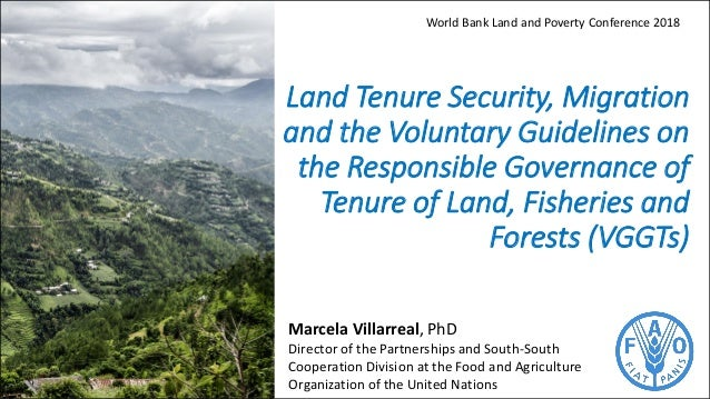 Land Tenure Security, Migration and the Voluntary Guidelines on the Responsible Governance of Tenure of Land, Fisheries an...