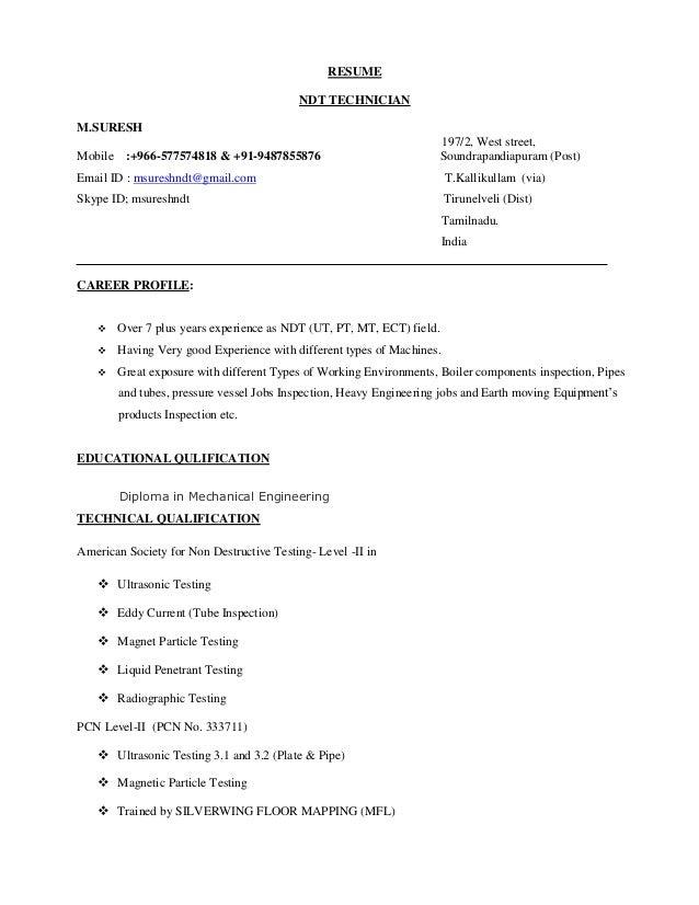 ndt resume