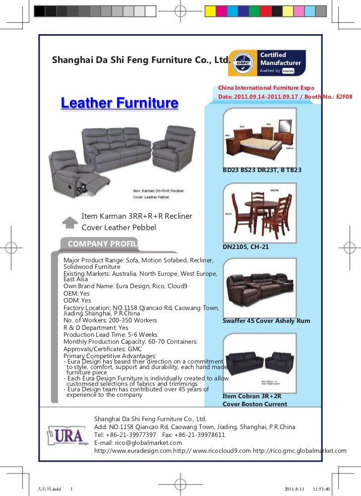 Certified     Shanghai Da Shi Feng Furniture Co., Ltd.                                   Manufacturer                     ...