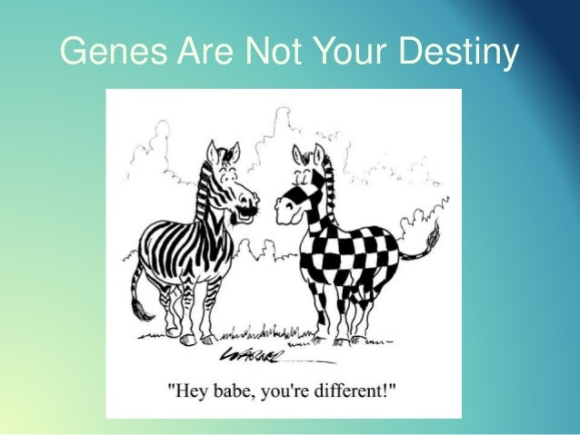 Genes Are Not Your Destiny
