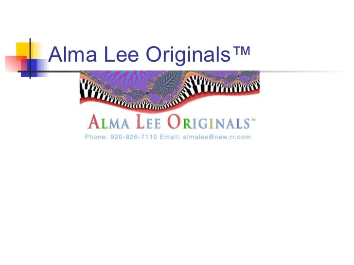 Alma Lee Originals™