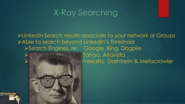 how to do a linkedin xray search