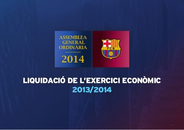 LIQUIDACIÓ DE L'EXERCICI ECONÒMIC  2013/2014