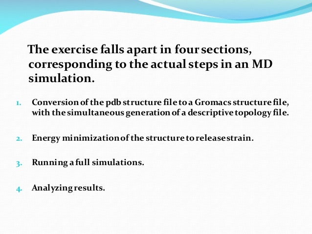 Molecular dynamics and Simulations