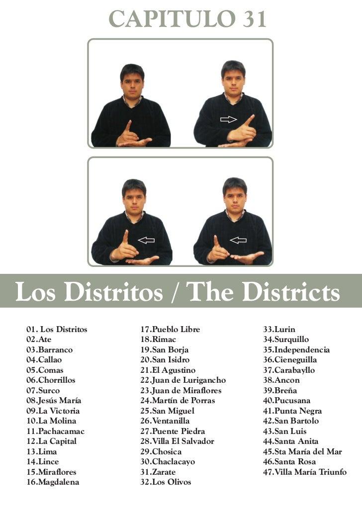 CAPITULO 31Los Distritos / The Districts 01. Los Distritos     17.Pueblo Libre         33.Lurin 02.Ate                18.R...