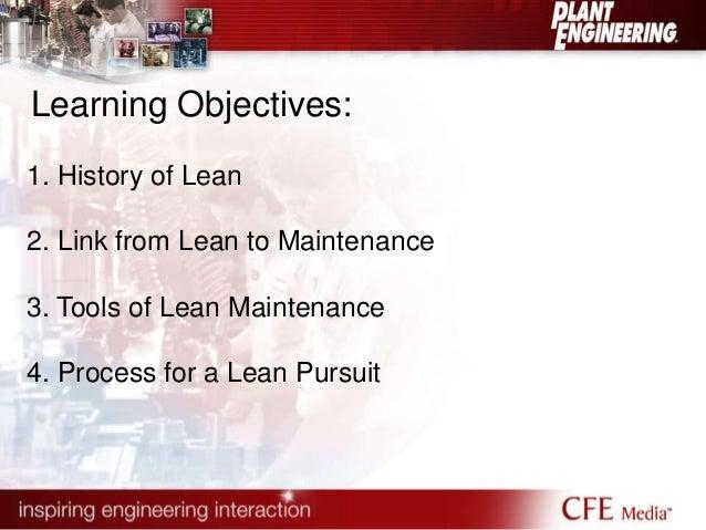 Principles of Lean Maintenance  Slide 3
