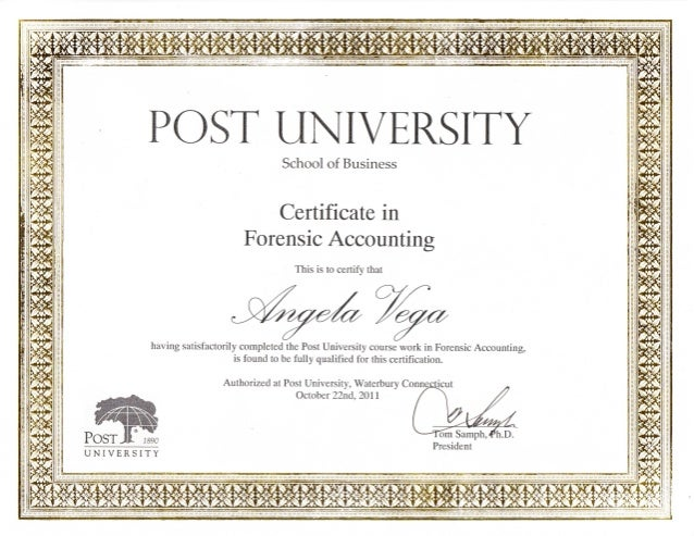 Forensic Accounting Certification