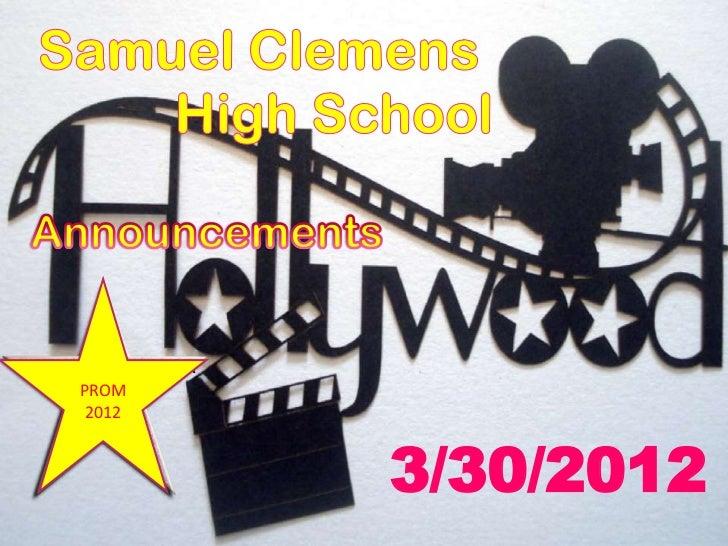 SENIOR & JUNIOR    PROM     Prom     2012      2012                  3/30/2012
