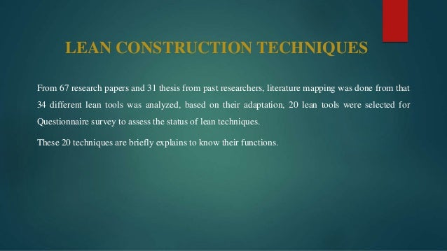 jit manufacturing technique thesis The views expressed in this thesis are those of the authors  jit concepts and  methods   philosophy of production based on inventory reduction, process.