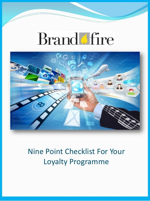 Nine Point Checklist For Your Loyalty Programme
