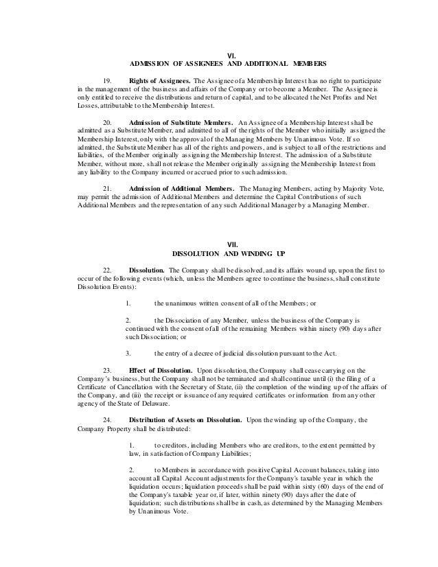Glass Tech Operating Agreement