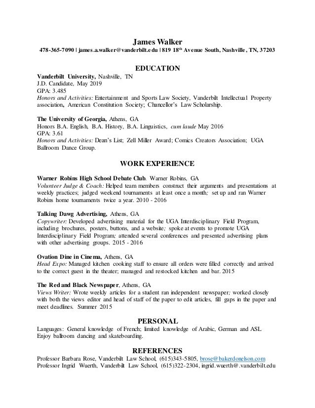 Resume Updated jan 2017