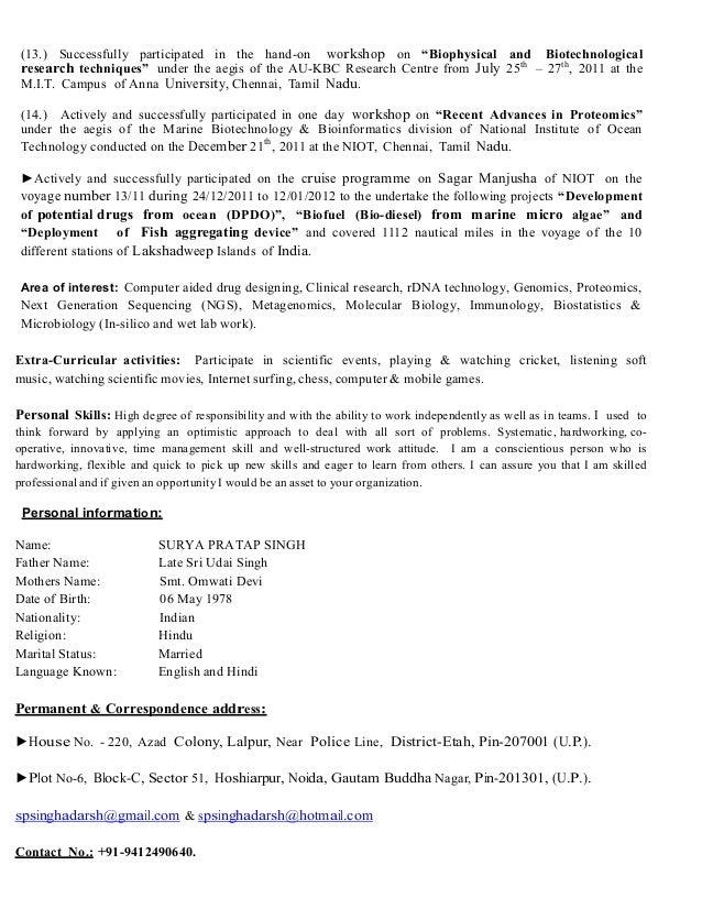 Updated CV of SPSingh2017