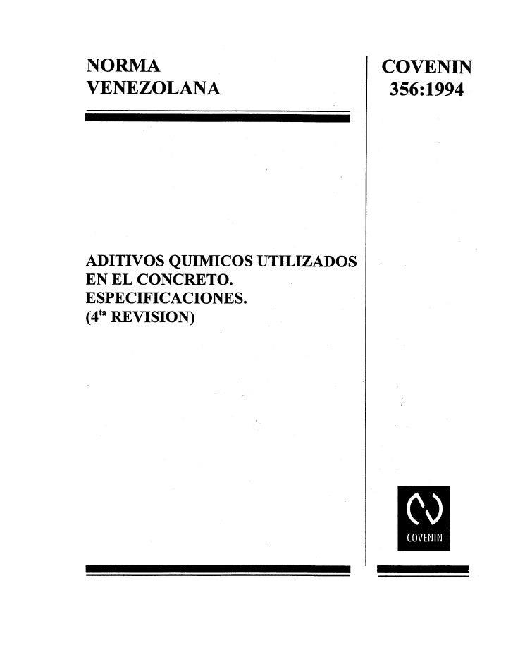 0356 1994 Norma Aditivos Concreto