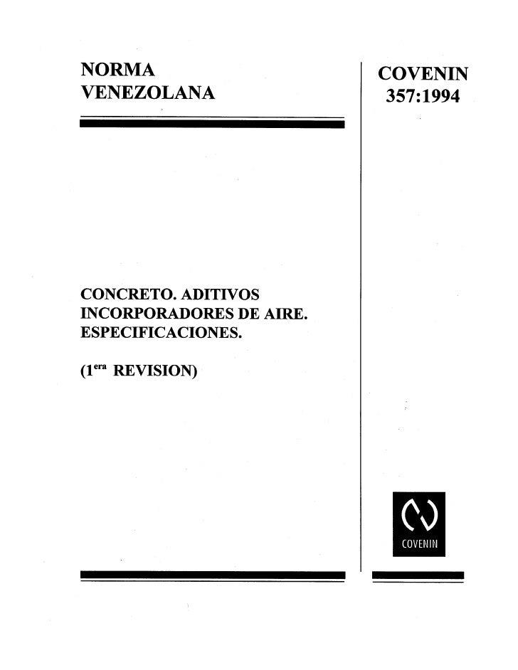 0357 1994 Norma Aditivos Concreto