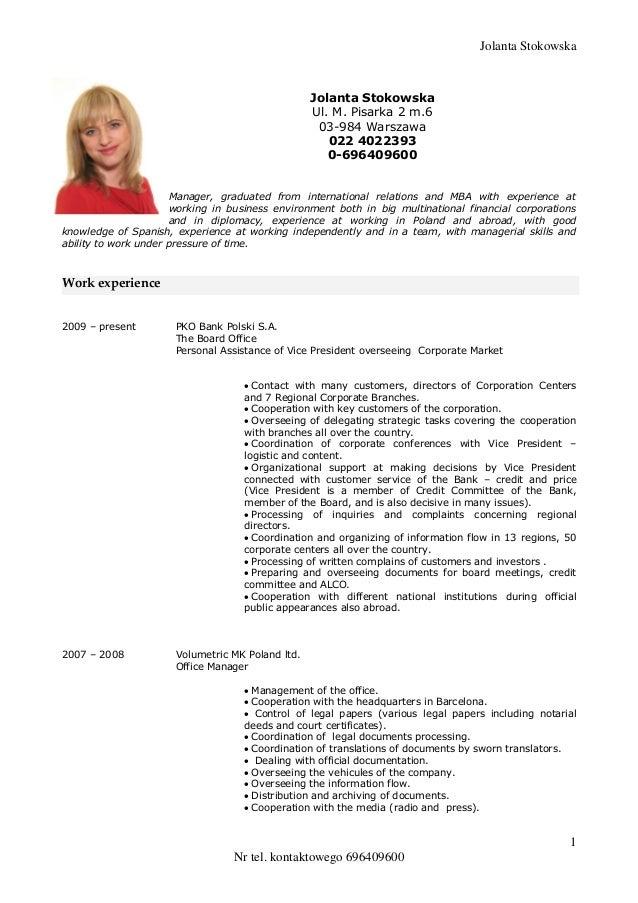 jolanta  stokowska cv 2013 angielski