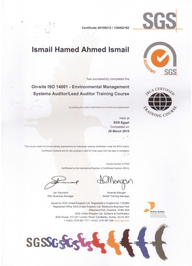 Iso 9001 certification.