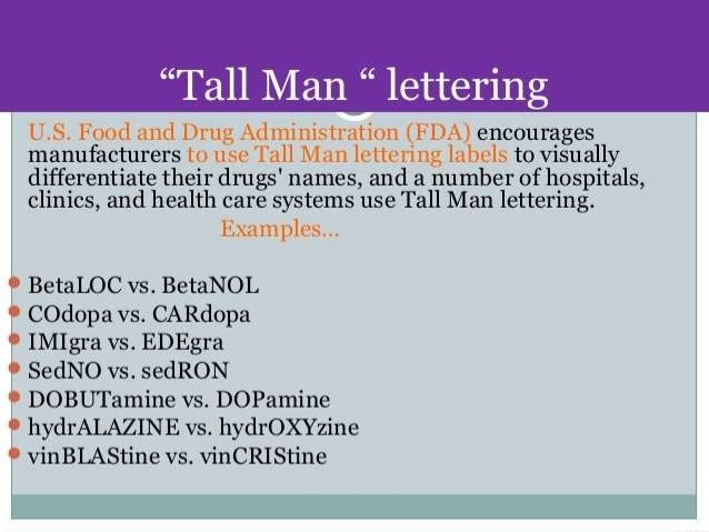 Drugs Names With  Letters