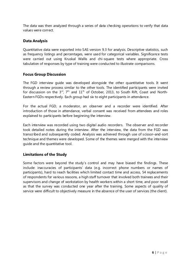 Post Training Asessment Report