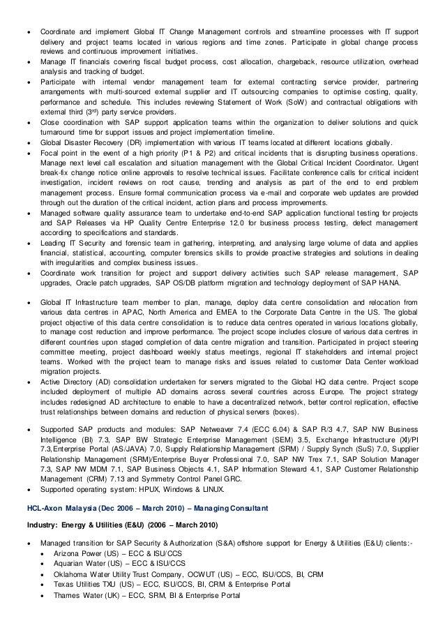 sap bw resume sample resume cv cover letter