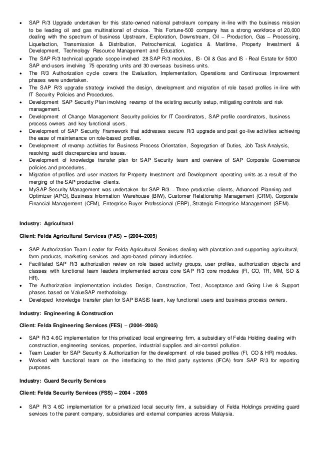 Offshore Transition Project Manager Resume