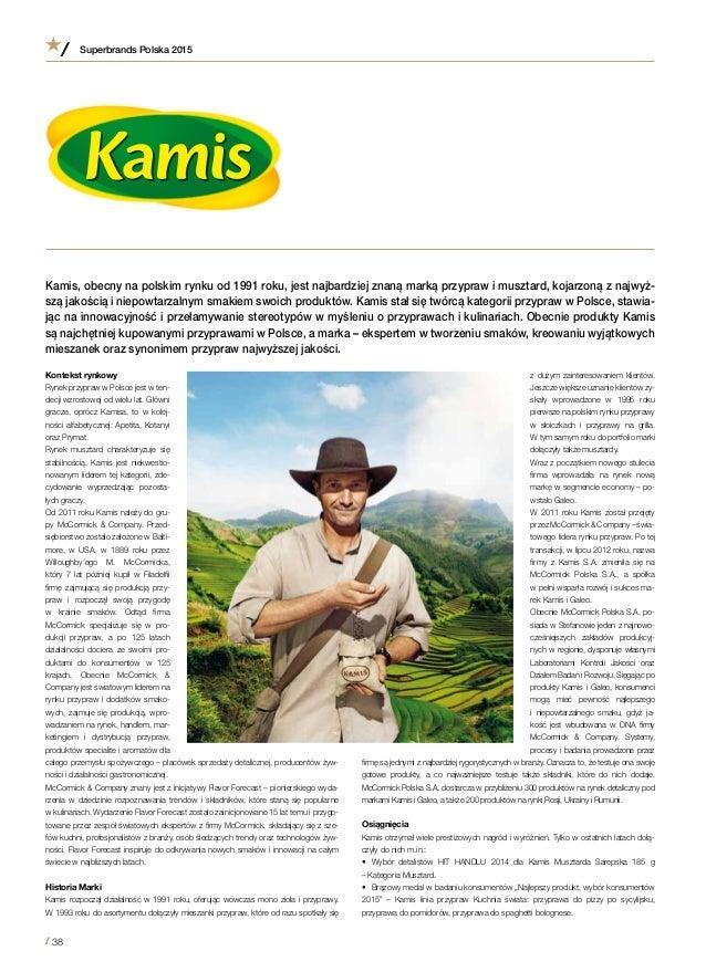 Case Study Marki Kamis Z Albumu Superbrands Polska 2015