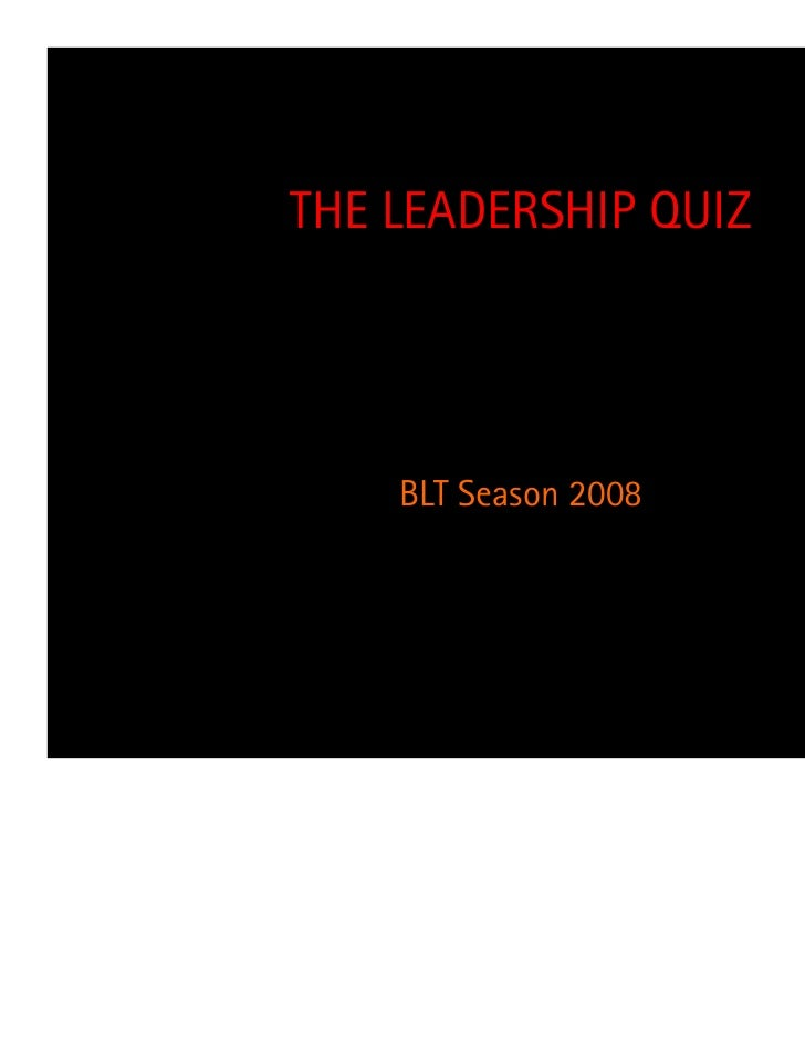 quiz 2 leadership The hill model for team leadership  leadership decisions, 2) internal leadership actions  next quiz.