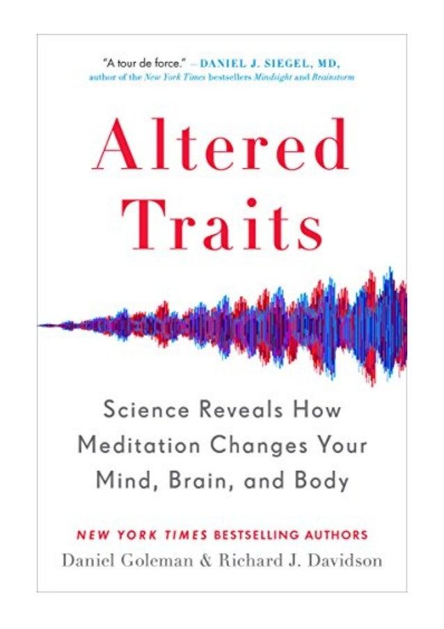 Altered Traits PDF - Daniel Goleman Science Reveals How