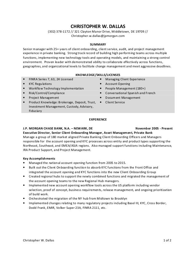 christopher dallas resume