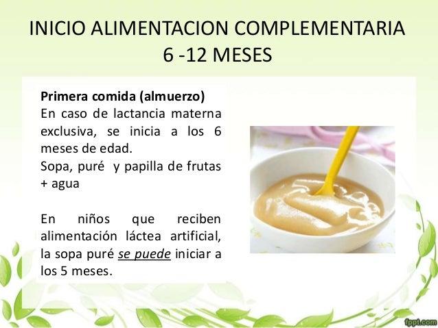 Alimentacion en el ni o menor de 2 a os - Pures bebes 6 meses ...