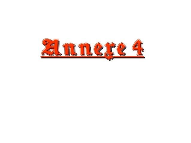 Annexe 4Annexe 4