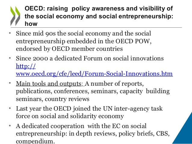 Learning from outside the EU - What are other international organisations doing in the Social Economy Area? Slide 3