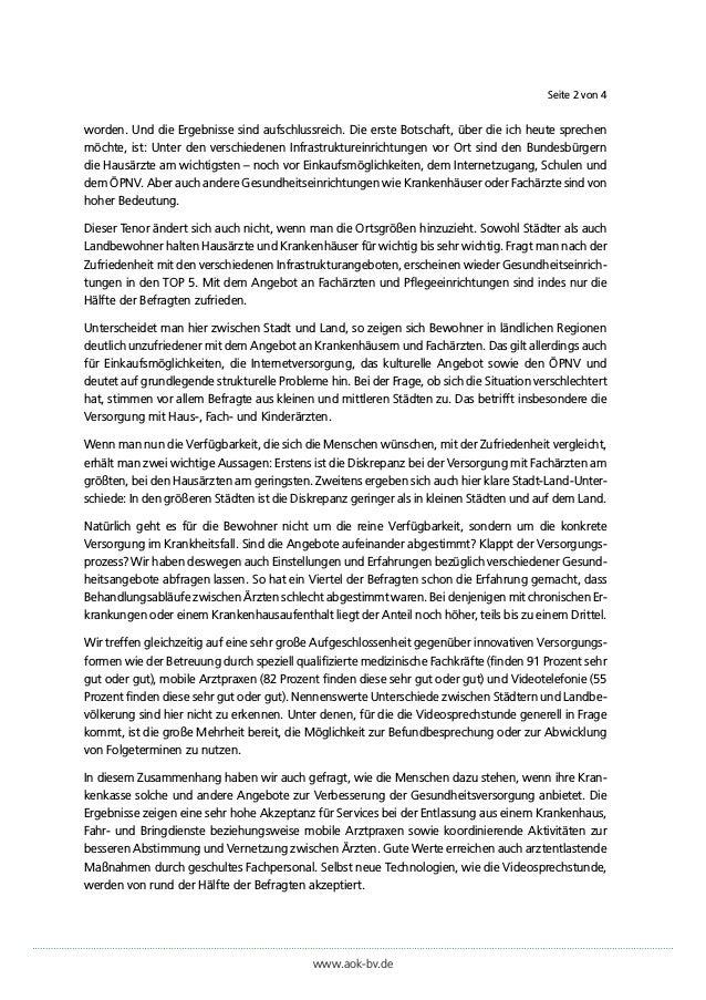 """Pressestatement von Martin Litsch (Vorstandsvorsitzender des AOK-Bundesverbandes) zur AOK-Initiative """"Stadt. Land. Gesund."""" Slide 2"""
