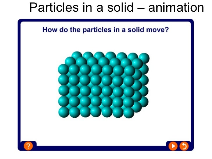 How are particles arranged in a solid?