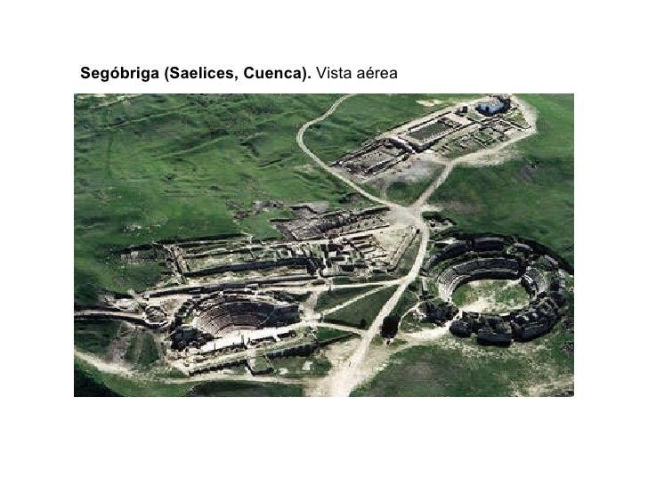 Segóbriga (Saelices, Cuenca).  Vista aérea